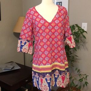 Old Navy Indian Geometric Print M Swim Beach Tunic